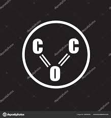 一酸化炭素アイコン フラット ベクトル署名の分離のヴィンテージ