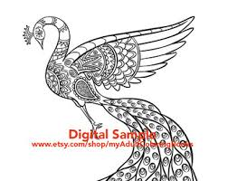 Small Picture Peacock Coloring Page for Adults Peacock Adult Coloring Page