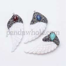 sea shell pendants with polymer clay rhinestone brass bail oval gemstone cabochon feather 00kt21