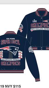 2019 new england patriots super bowl liii champions all leather nappa jacket
