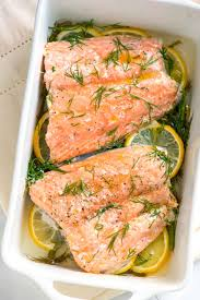 cooked salmon fillet. Perfect Salmon Our Baked Salmon Recipe With Lemon And Dill Takes Less Than 30 Minutes  Makes The To Cooked Salmon Fillet