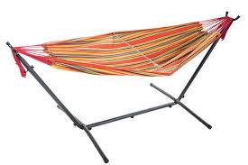 free standing hammock. Plain Free Free Standing Hammock  MultiColour Orange For G