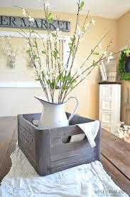 wooden crate centerpiece diy farmhouse style decor ideas for the kitchen wooden crate centerpiece rustic farm house