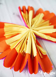 Tissue Paper Flower How To Make How To Make Tissue Paper Flowers Skip To My Lou