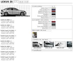 2012 Lexus Color Chart Lexus Is Touchup Paint Codes Image Galleries Brochure And