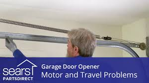 garage door won t move motor and travel troubleshooting