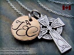 celtic cross necklace personalized baptism necklace baptism boy gift mother baptism gift gift
