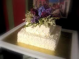 Square Buttercream 2 Tier Wedding Cake Cakecentralcom