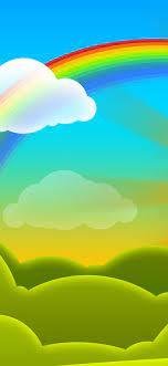 Rainbow Vector Cartoon Wallpaper - Oppo ...