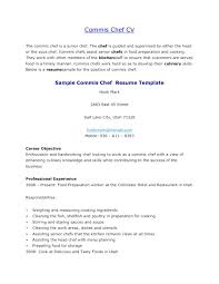 Culinary Resume Samples Chef Resume Objective Sample Culinary Arts