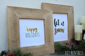 pallet wood picture frame. diy pallet wood picture frame \u0026 holiday printable e