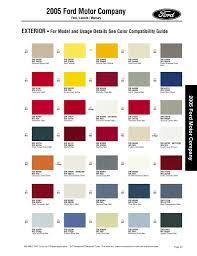 2005 Mustang Color Chart Got My Xenon Side Scoops But Have A Qurstion Ford