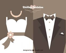 wedding invitation with bride dress and wedding suit vector free Wedding Invitations Design Vector wedding invitation with bride dress and wedding suit free vector wedding invitations design vector free download