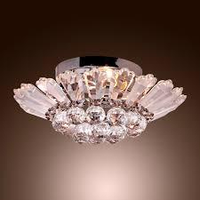 modern chrome semi flush mount crystal chandelier for interior lighting use full size
