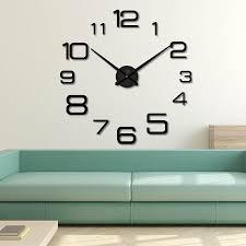 fullsize of relaxing big wall clock sticker design diy clocks art decorative hanging largewall watch home