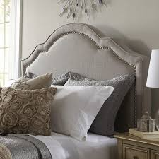 Shaped Nail Head Upholstered Headboard - You'll love the simple elegance  and sophistication of