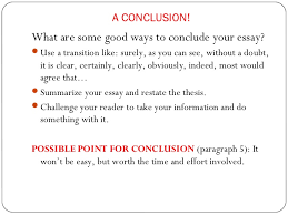 a conclusion to an essay the essay roadmap  a conclusion