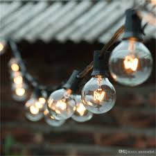 String Lights 25ft Clear Globe Bulb G40 String Light Set With 25 G40 Bulbs Included Patio Lights Patio Holiday Lights G40 Bulb String Lamp Clear Bulb