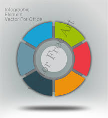 Office Pie Chart Circle Infographic Pie Chart Vector For Office Free Vector