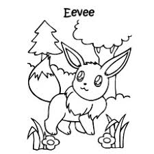 Printable Pokemon Coloring Pages Eevee Evolution Character Best