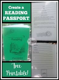 Free Passport Template For Kids Interesting Take A Journey With A Reading Passport Lit Mama