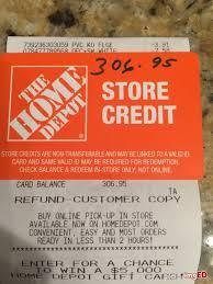 gift card merchandise return card credit card 306 95