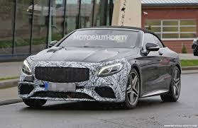 2018 mercedes benz s550. perfect mercedes 2018 mercedesamg s63 cabriolet facelift spy shots  image via s baldauf with mercedes benz s550