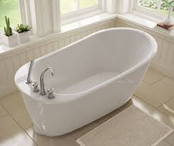 Free Standing Bath Tub With Deck Mount Faucet