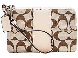 COACH Box Legacy Small Wristlet in Signature Fabric Light Khaki, Madeira,  Vachetta Features and Description