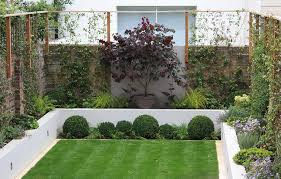 View in gallery Assortment of lush plants in a modern manicured yard