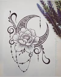 от нечего делать луны рисуются лунамесяцлунницапионлотос