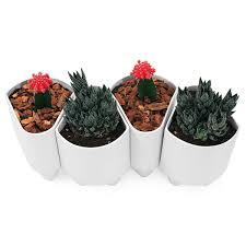ceramic modular planter  modern stoneware flower pot indoor