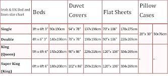 Sheet Measurement Chart Bed Sizes Chart Us Bed Sheet Sizes Chart Stunning Grey King