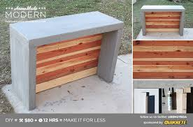 modern concrete patio furniture. HomeMade Modern DIY Concrete Bar Postcard Patio Furniture D