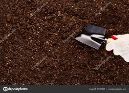 fertile garden. Fertile Garden Soil Texture Background Top View \u2014 Stock Photo