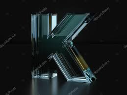 Glass letter K ⬇ Stock Photo, Image by ...