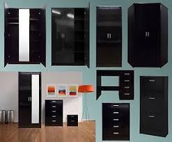 bedroom furniture black gloss. image is loading 2toneblackglossbedroomfurnituresetwardobe bedroom furniture black gloss d