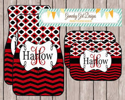 chevron car floor mats. Delighful Mats Red And Black Car Mats Monogrammed Personalized Chevron  Accessories DAWG For Floor O
