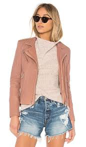 stylish iro old pink han leather jacket for women