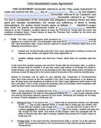 Free Ohio Standard Residential Lease Agreement – Pdf Template