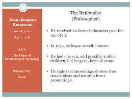 a research study conducted by shelby parker sarah willingham   jean jacques rousseau  identify common themes 6 john