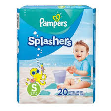 Pampers Splashers 20 Count Size S Disposable Swim Pants In