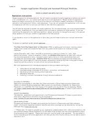Simple Sample Cover Letter For Principal Position 46 For Sample