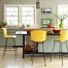 yellow stools furniture. bold bright yellow bar stools make this kitchen a happy furniture