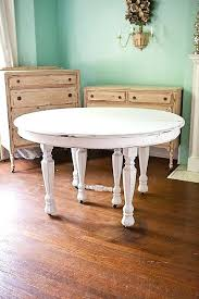 antique dining table shabby chic white by distressed round kitchen antiqued and chairs i65