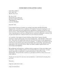 Best Ideas Of Sample Of Cover Letter For Internship Application In