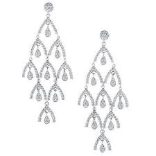 elegant and stylish pave set diamond chandelier earrings