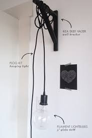 just hanging around wall light diy