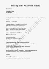 Resume Example Volunteer Experience Example Resume Volunteer Work