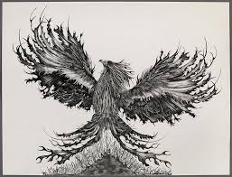 The Phoenix Drawing By Judy Bohning
